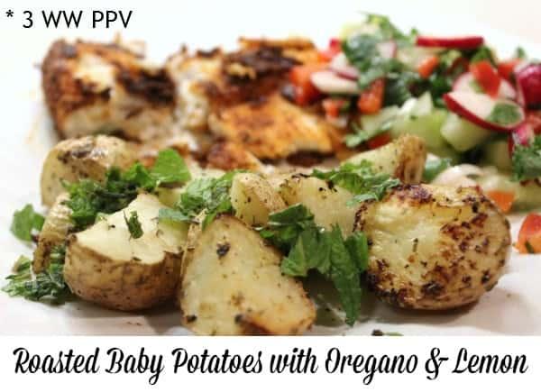 Roasted Oregano Lemon Baby Potatoes – 3 Weight Watchers Points Plus Value