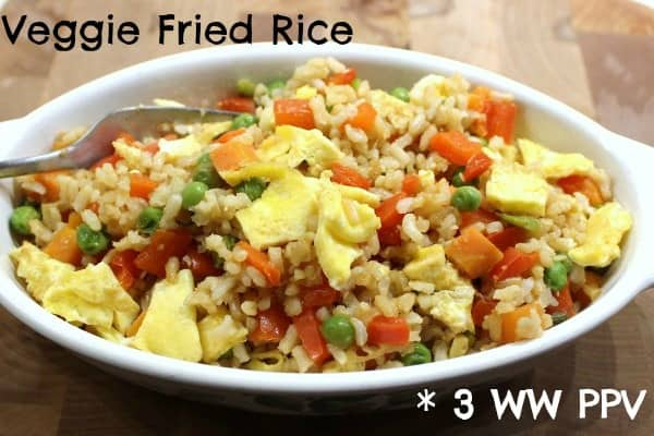 Healthy Veggie Fried Rice – 3 Weight Watchers Points Plus Value