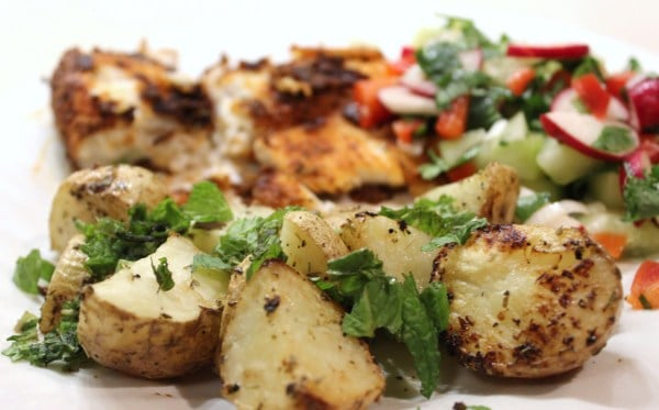 Roasted Baby Potatoes with Oregano & Lemon - 3 WW Points