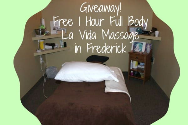 Giveaway! 1 Hour Full Body LaVida Massage, Frederick!