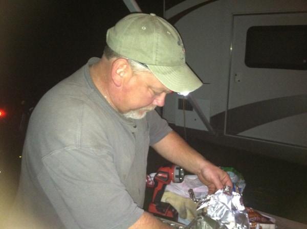 Bring night lights, head lights, flash lights, lanterns when you go camping
