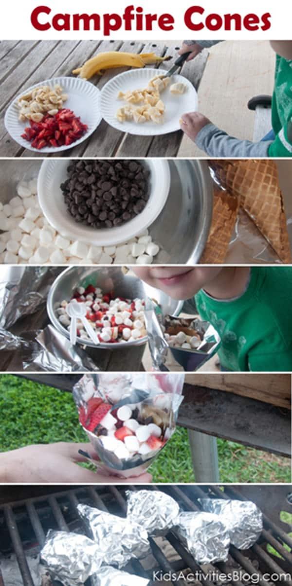 Campfire Cones - from kidsactivitiesblog.com