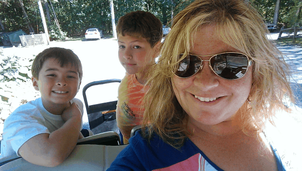 We had SO much fun on the golf cart!
