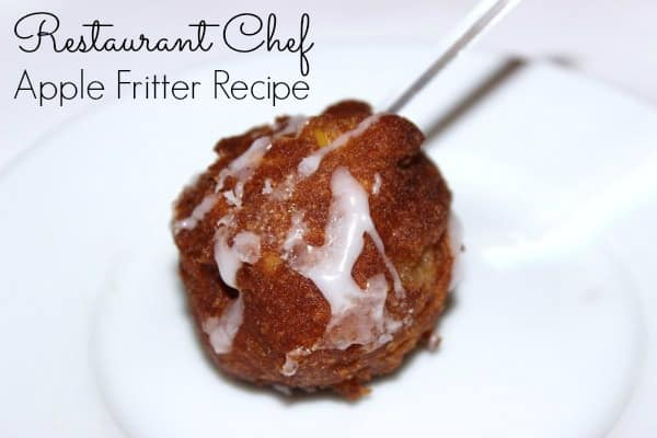 Restaurant Chef Apple Fritter Recipe