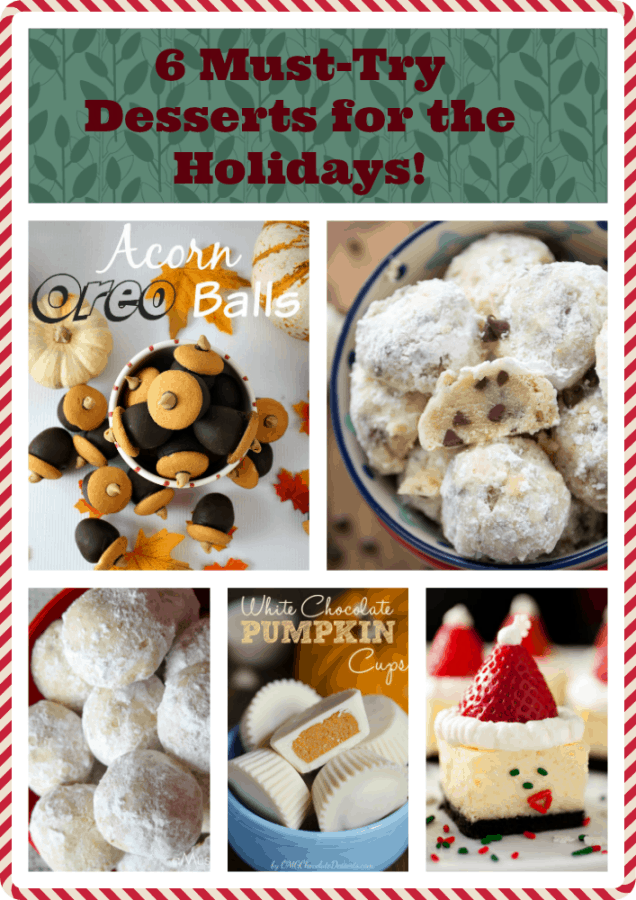 Holiday Desserts pinnable pic
