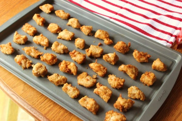 Lay out the nuggets onto a large cookie sheet