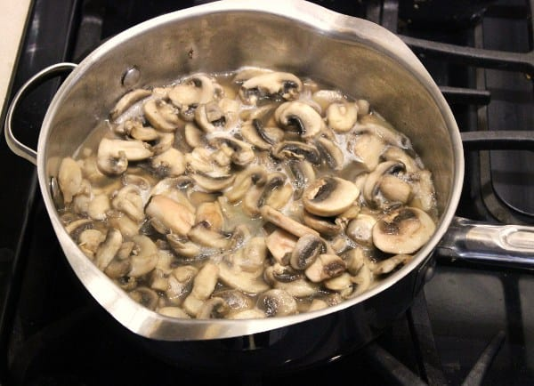 Saute your mushrooms