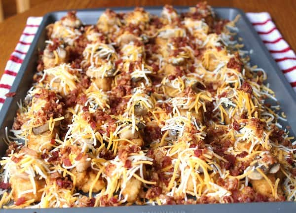 Sprinkle bacon bits on top