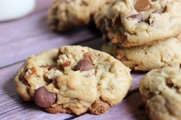 Chocolate Chip Peanut Butter Pretzel Cookie Recipe