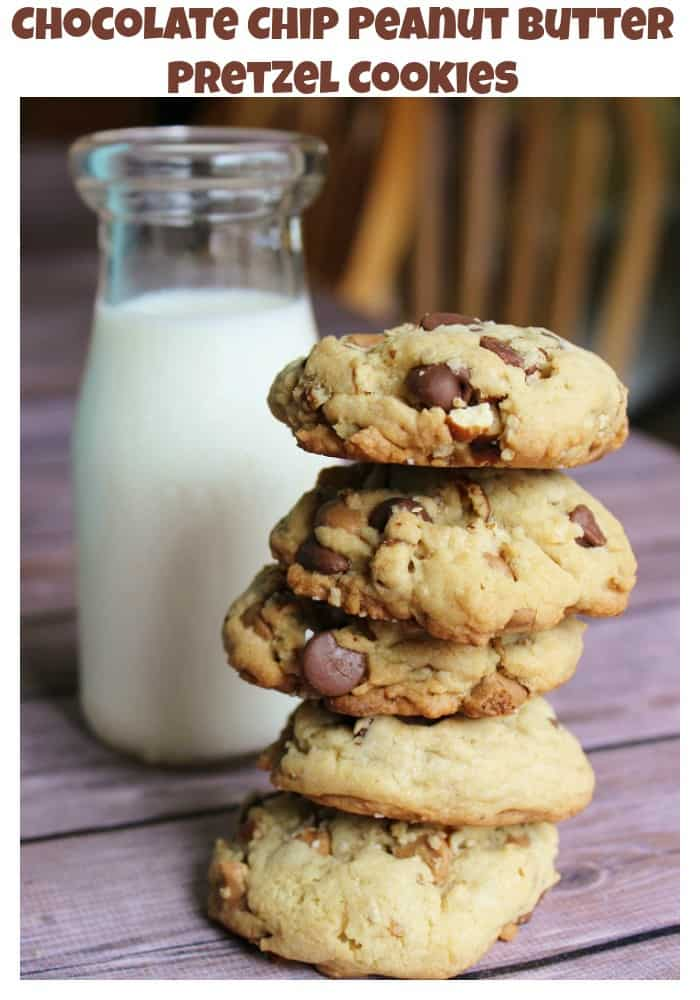 Chocolate Chip Peanut Butter Pretzel Cookies