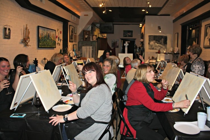Paint Night is all about friendships