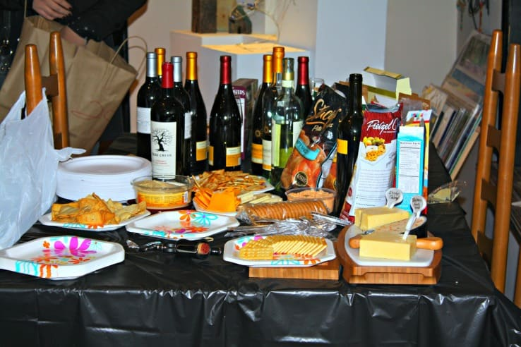 Bring wine & finger foods to your event