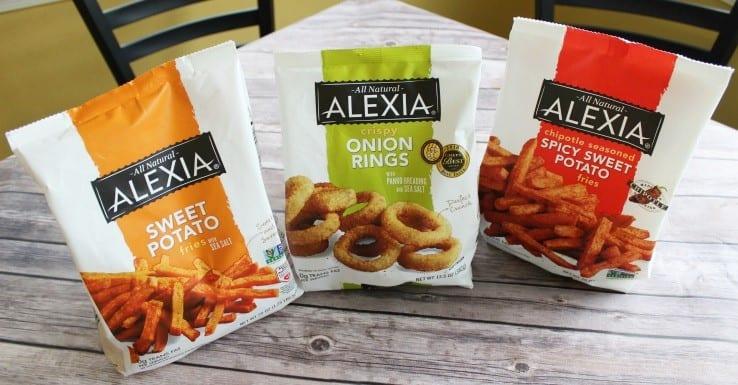 Alexia frozen sweet potato fries and onion rings