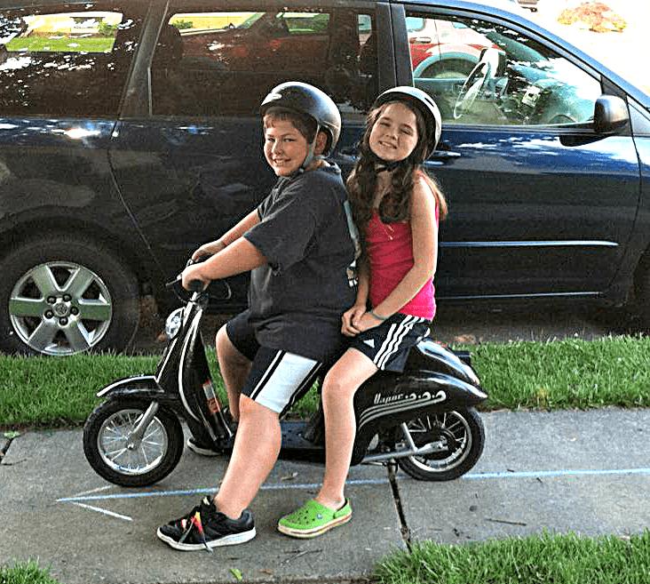 Hallmark - Sean and Alex on bike