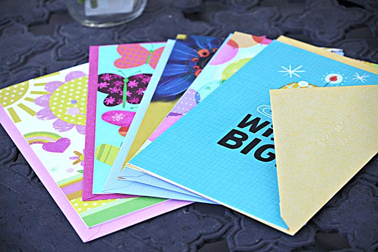 Hallmark - cards on table