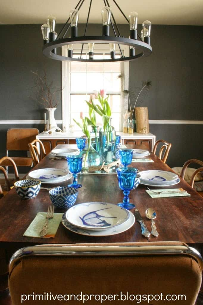 Nautical Spring Tablescape - DIY Home Decorations Ideas
