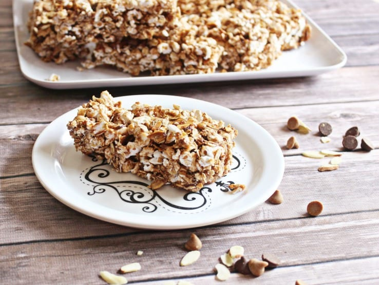 Homemade Granola Bar Recipe with Popcorn: Weight Watchers Friendly