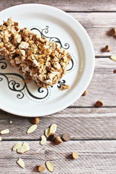 Homemade Granola Bar Recipe with Popcorn: Weight Watchers Friendly
