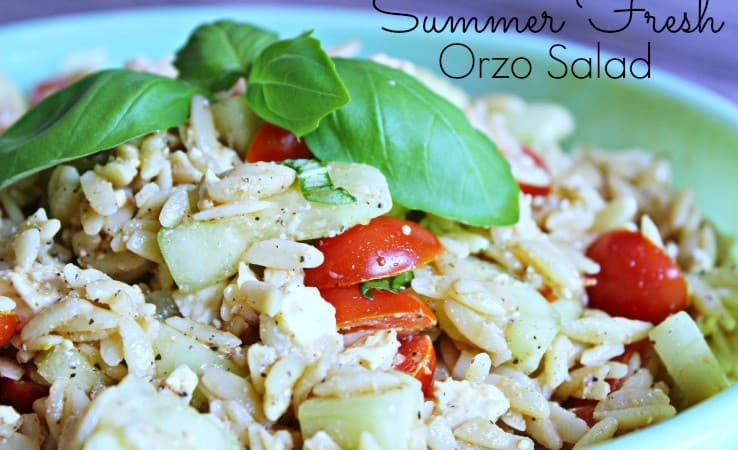Summer Fresh Orzo Salad