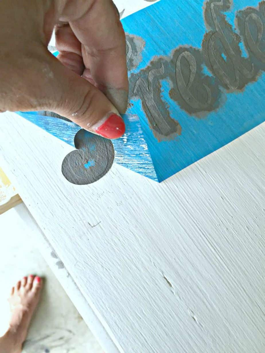 Removing the stencil