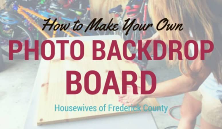 How to Make Your Own Photo Backdrop Board
