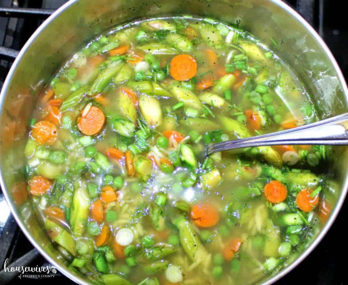 A delicious vegetarian soup