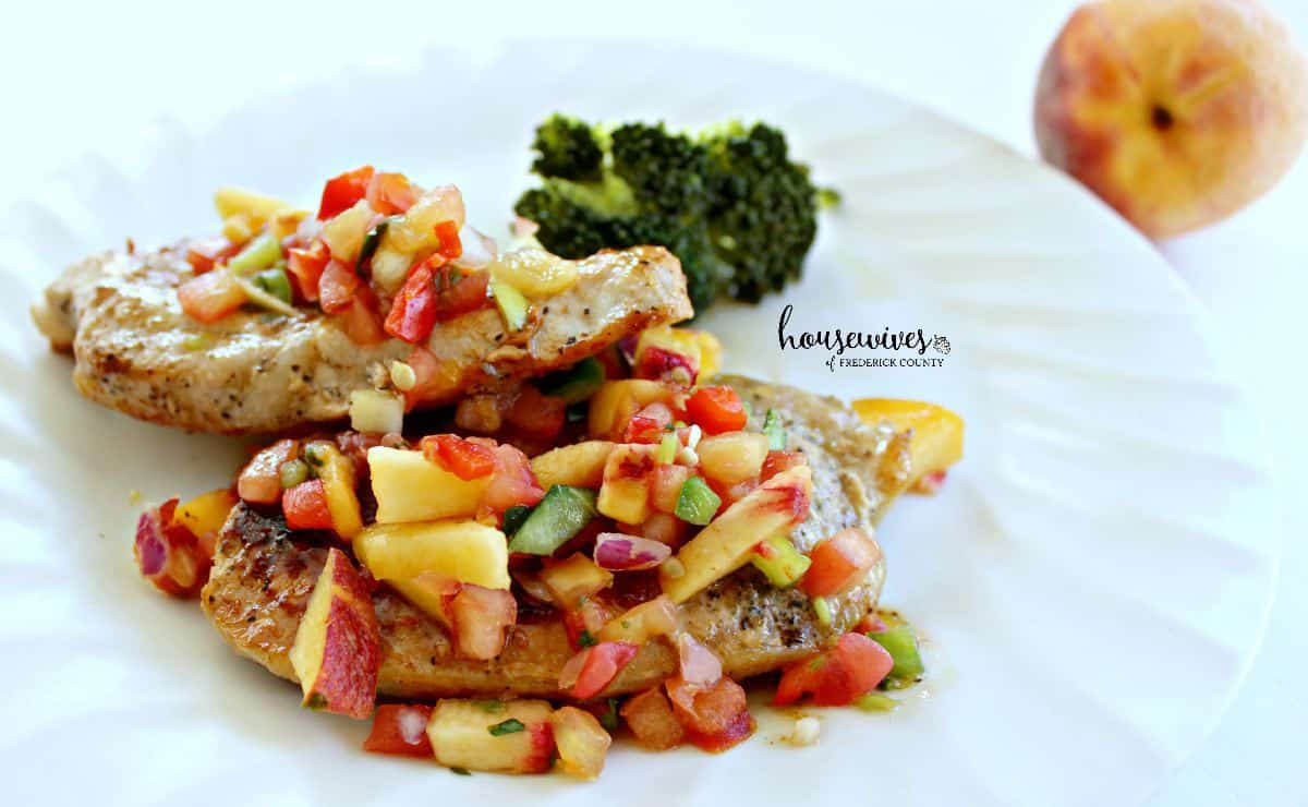 Peach Salsa Pork Chops