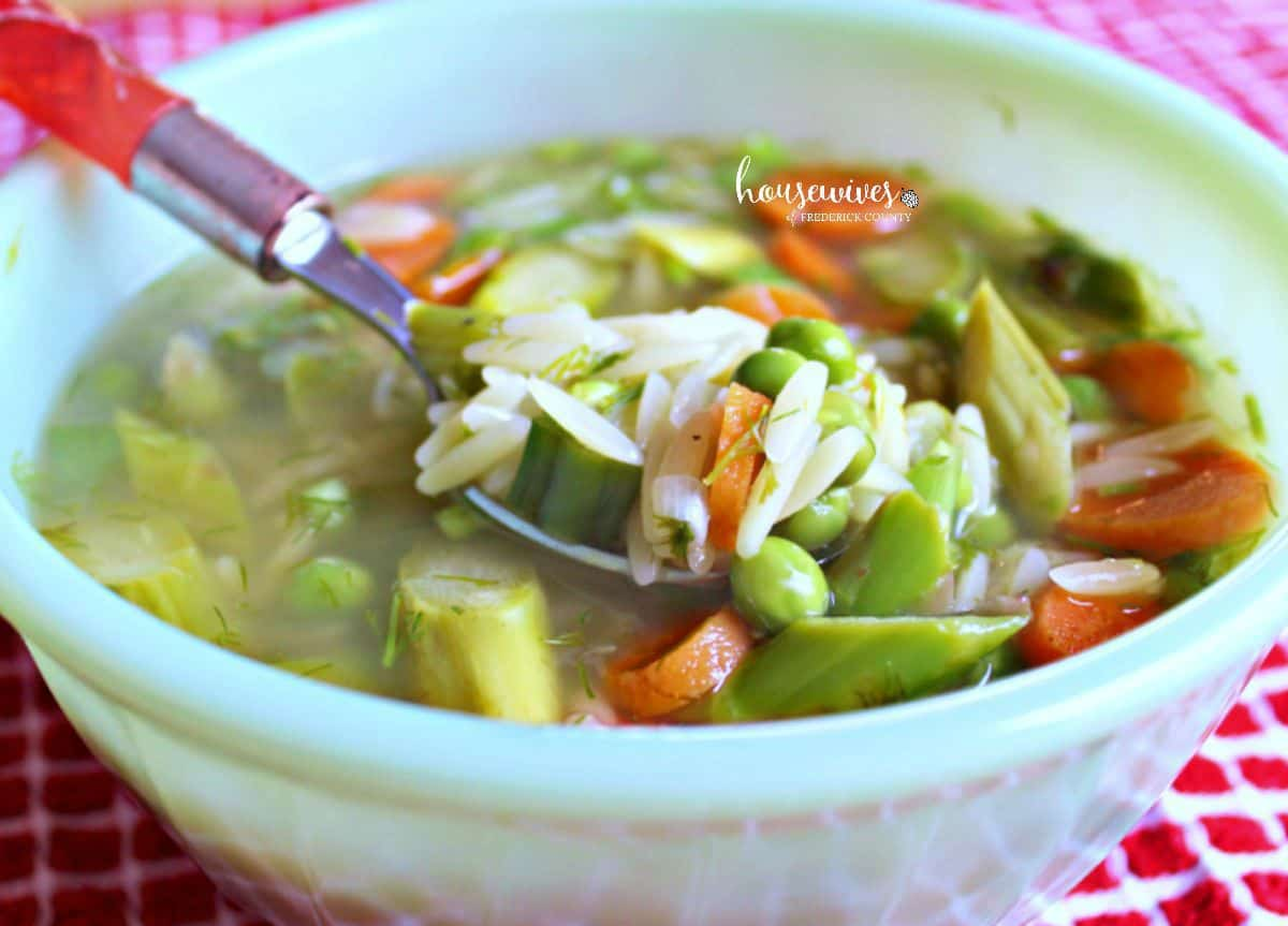 Asparagus Orzo Soup - 2 Weight Watchers Points Plus Value