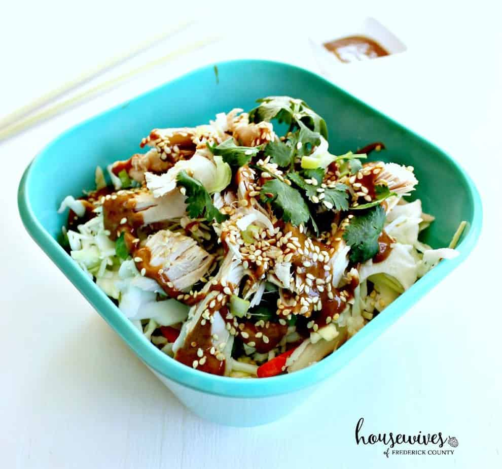 Rotisserie Chicken Salad Recipe with Almond Dressing