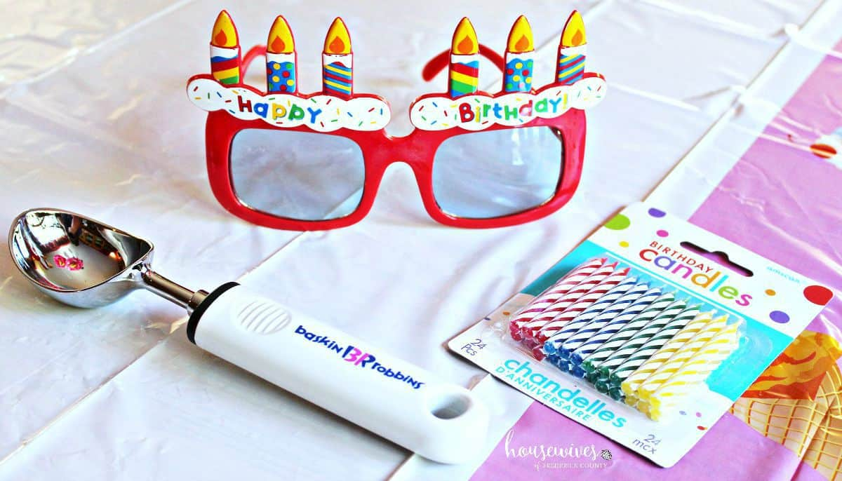Use festive props for your birthday celebration