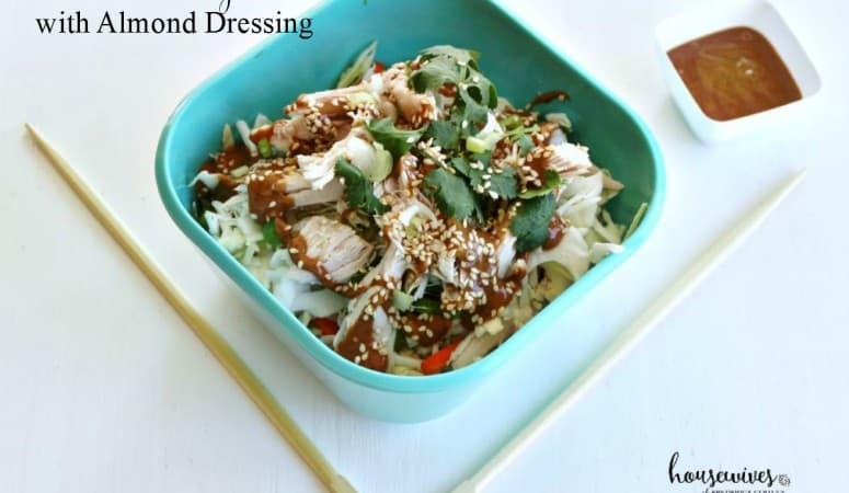 Chicken Cabbage Salad with Almond Dressing