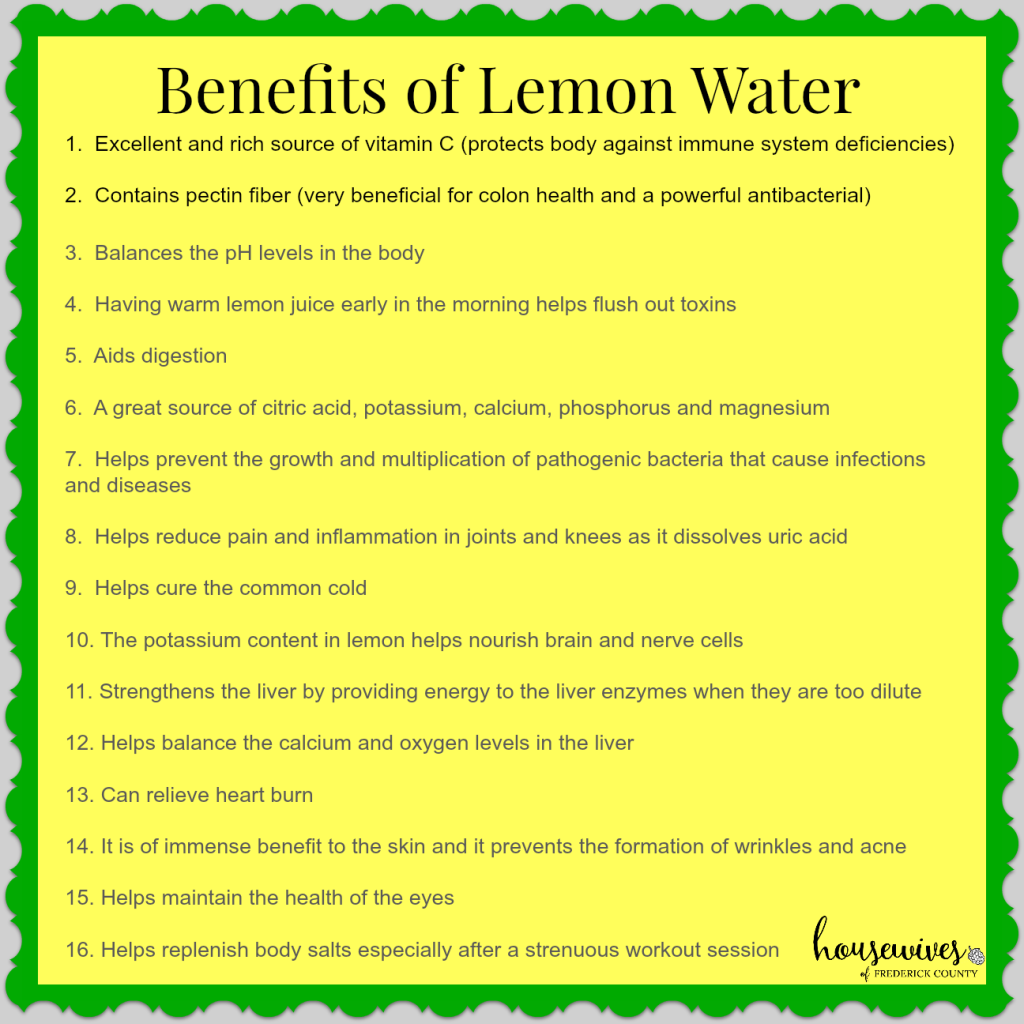 Lemon water graphic