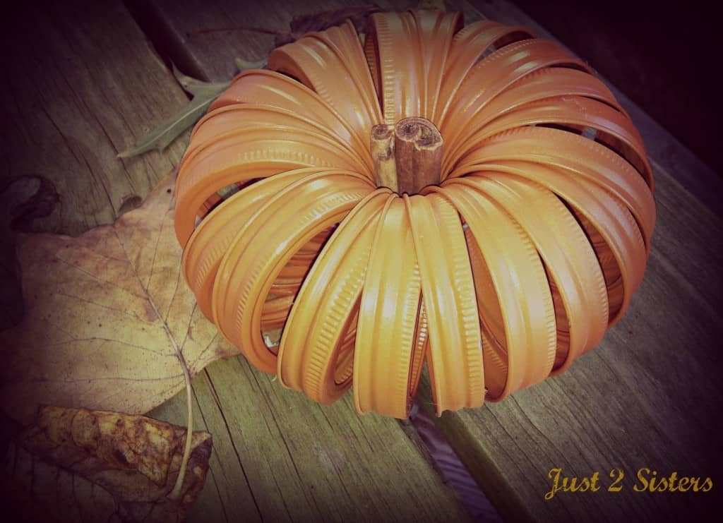 Mason Jar Ring Pumpkin DIY Fall Decor Ideas