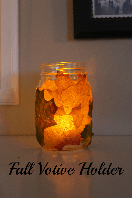 Fall foliage votive holder