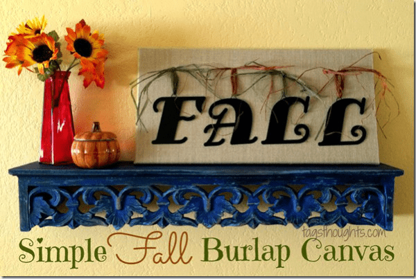 Fall burlap canvas