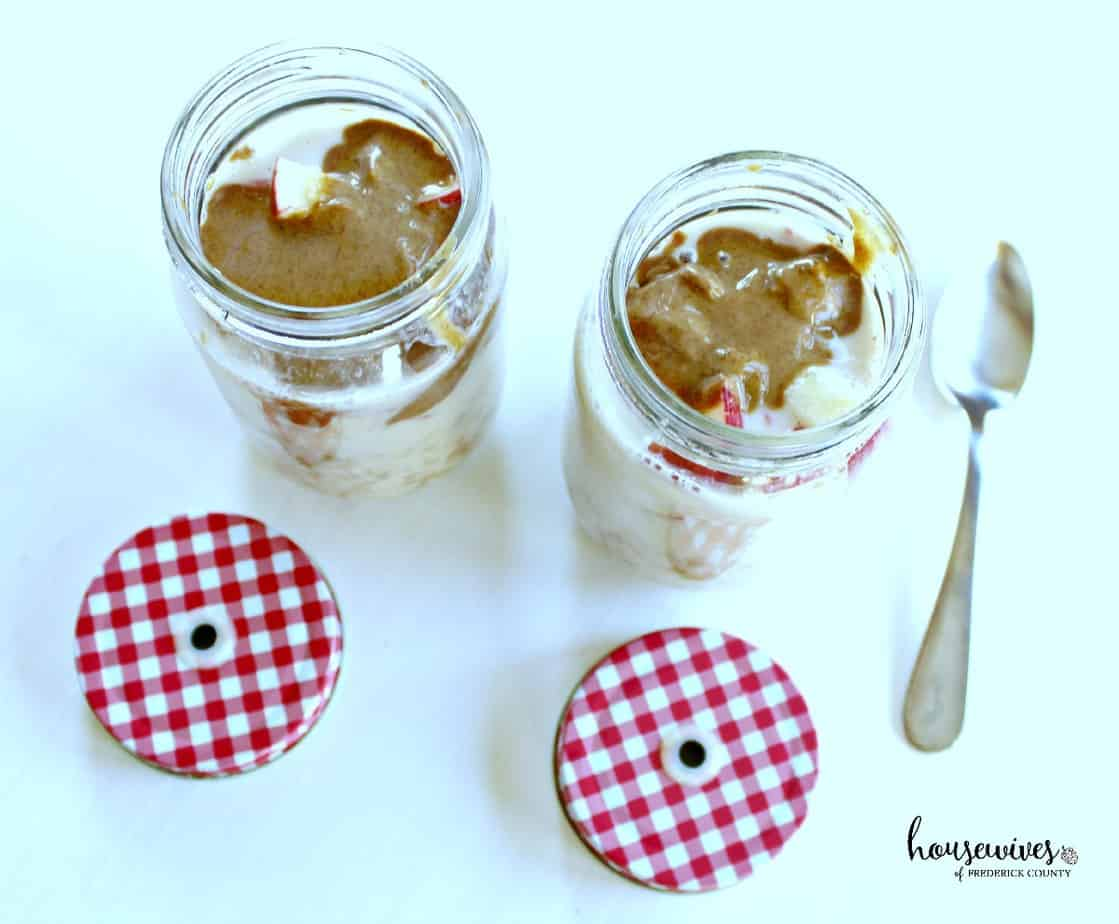 Apple Almond Butter Recipe for Overnight Oats