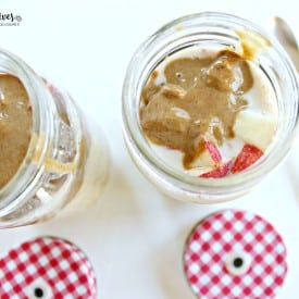 Apple Almond Butter Overnight Oatmeal