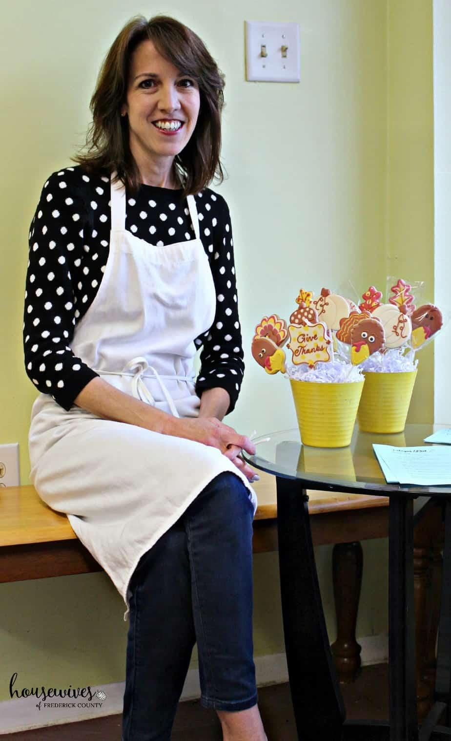 Decorating Sugar Cookies with Sugar Dot Cookies