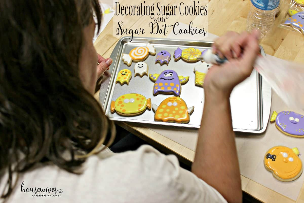 Decorating Sugar Cookies with Sugar Dot Cookies
