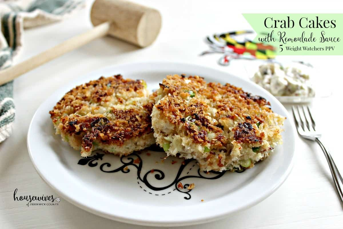 Tremendous Crab Cakes Recipe With Remoulade Sauce 7 Weight Watchers Funny Birthday Cards Online Aeocydamsfinfo