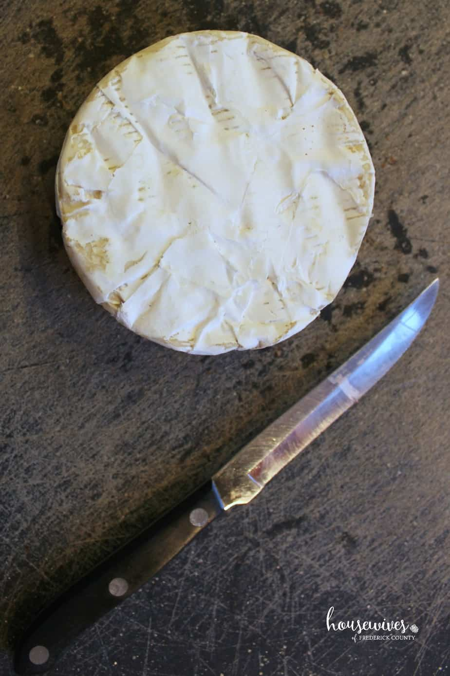 Start with a wheel of brie cheese