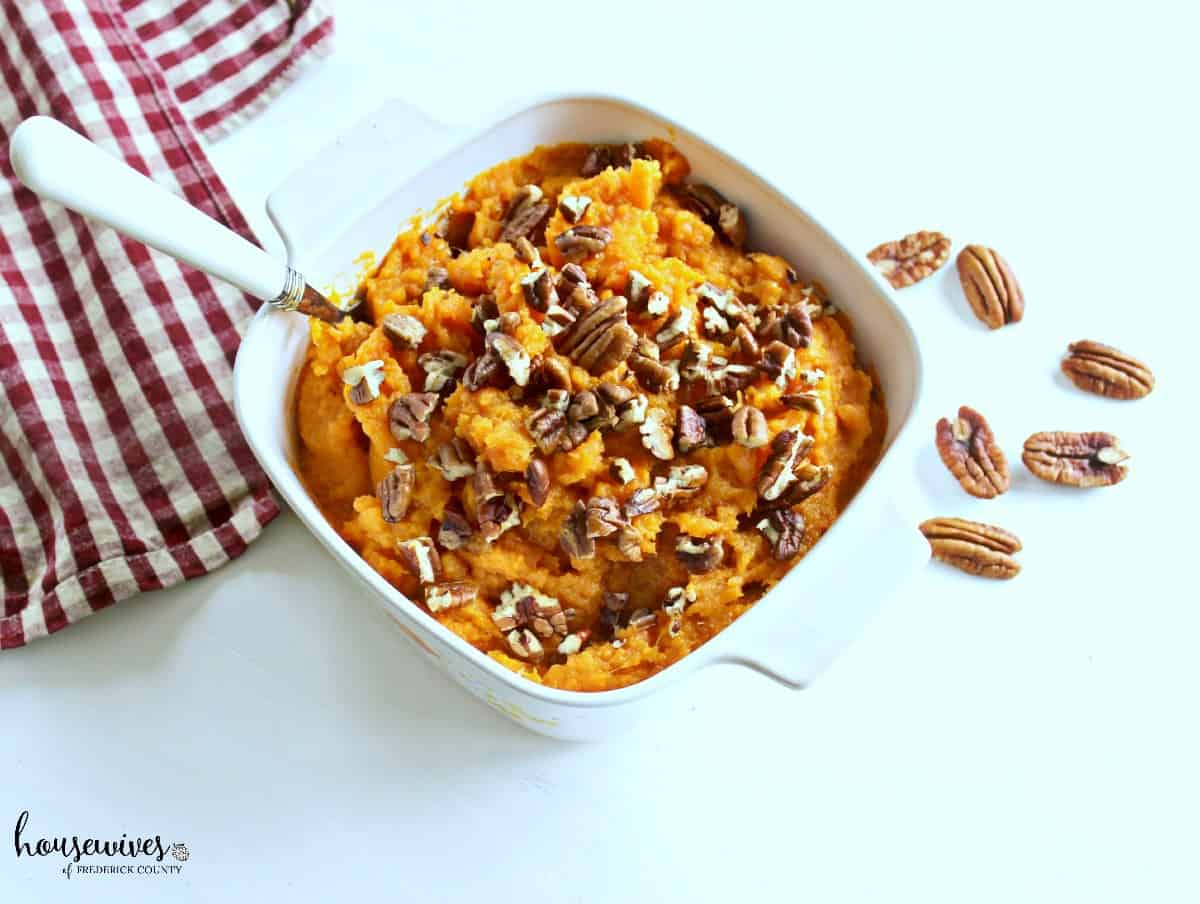 Butter Pecan Mashed Sweet Potatoes - 5 Weight Watchers PPV