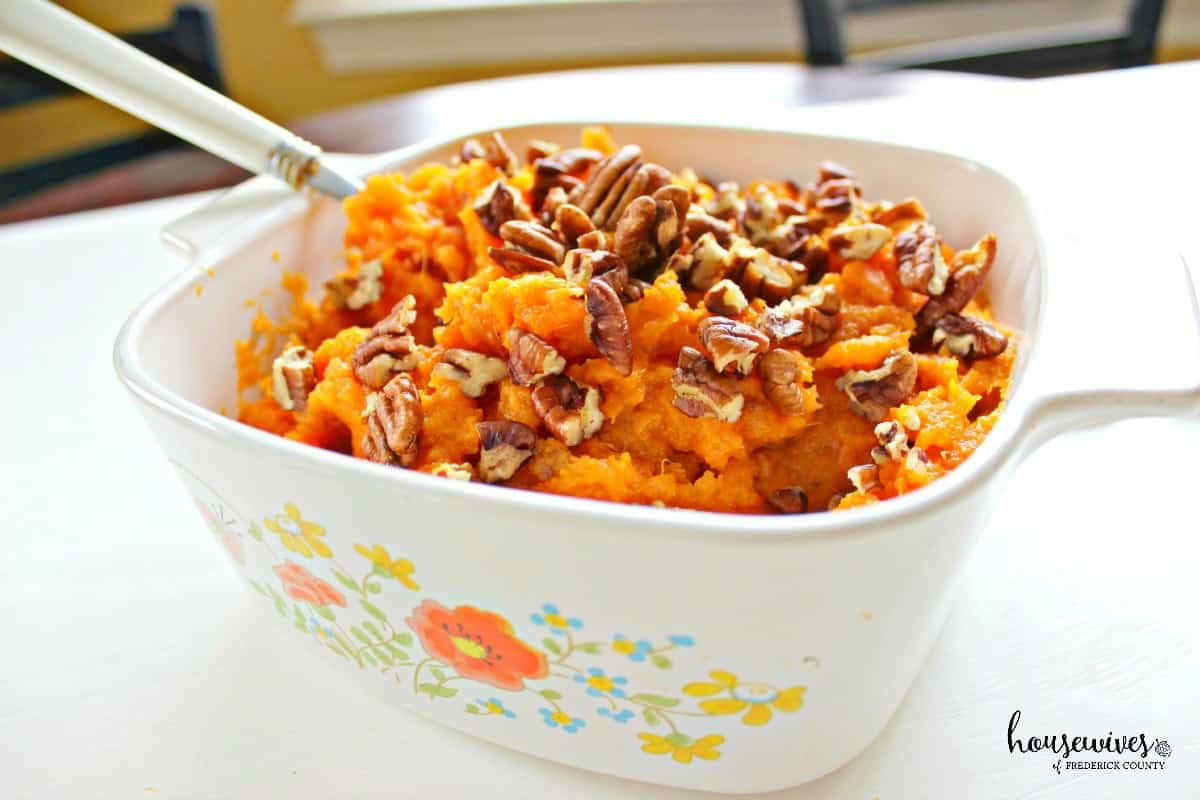 Butter Pecan Mashed Sweet Potatoes Recipe - 5 Weight Watchers Points