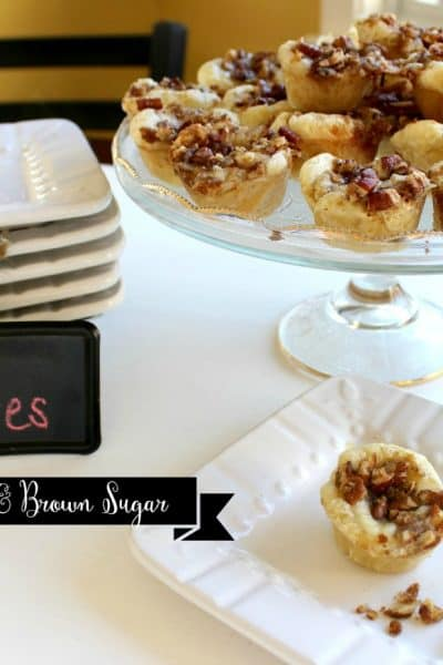 Brie in Puff Pastry with Pecans & Brown Sugar