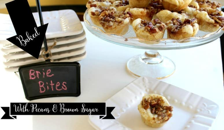 Baked Brie Bites with Pecans & Brown Sugar