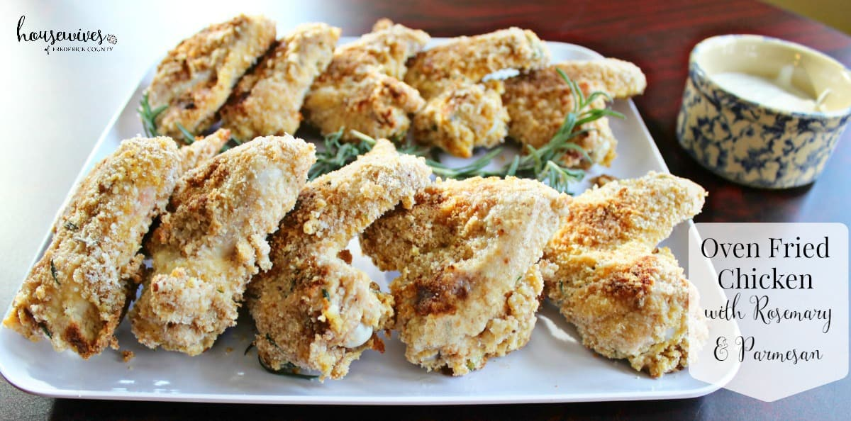 Oven Fried Chicken with Rosemary & Parmesan