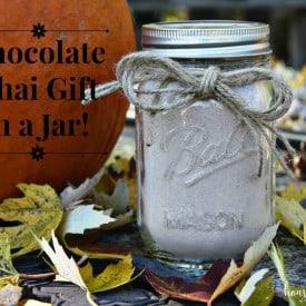 chocolate chai gift in a jar