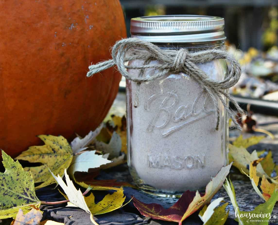 jar with pumpkin
