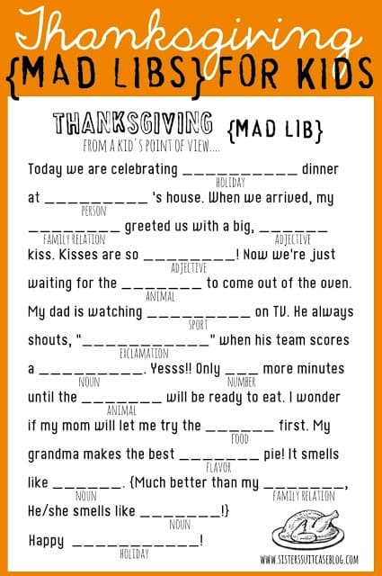 Free Thanksgiving Printables: Fun for Your Entire Family