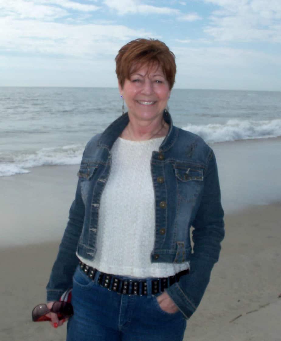 Sandi on the beach